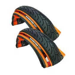 2 Vee Tire City Wolf 18x1.75 Semi Smooth Bike Tires Orange S