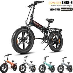 """ENGWE 20"""" 500W Folding Electric Mountain Bicycle 48V Adults"""