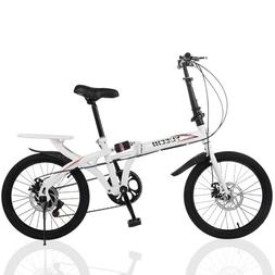 20in 7 Speed ​​City Folding Compact Suspension Bike Bicy