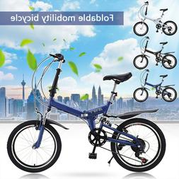 20 in Lightweight Mini Folding Bike Portable City Bicycle Fo