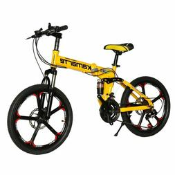 20inch folding mountain bike 21 speed Children's bicycle Two