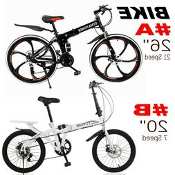 "21 Speed 26"" / 7 Speed 20"" Folding Bike Double Disc Brake Bi"