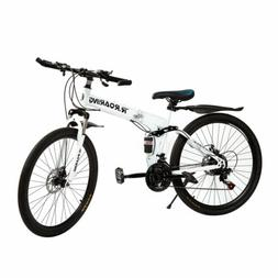 24 inch Bicycle Full Suspension Mountain Bike 21 Speed MTB B