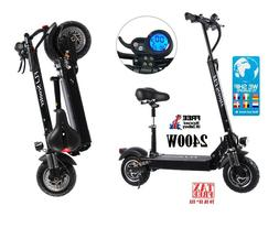 2400W Adult Electric Scooter with seat foldable Fast Kick Sc