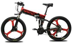"26"" Folding Electric Mountain E-Bike Shimano 500W 48V 12.8AH"