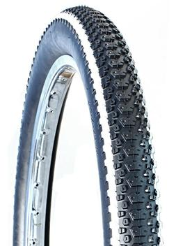 "Deli Tire 26"" x 2.80"", Folding, 62 TPI, White Stripe, Bike T"