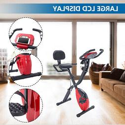 3-In-1  Exercise Bikes Folding Indoor Upright With Heart Rat