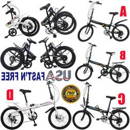 7 Speed 20in City Folding Compact Suspension Bike Bicy