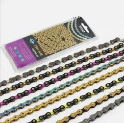 8/9/10/11 Speed Bicycle Chains 116 Links Premium For Folding
