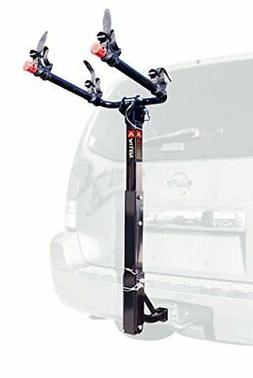 BEST Automotive Dual Bike Hitch Mount Rack w/ Folding Carry