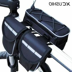 Bicycle Frame Bag Mountain Bike Tube Bag 4in1 Cycling Pouch