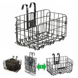 Cycling Detachable Bike Bicycle Front Rear Basket Foldable S
