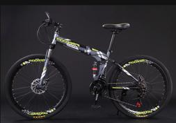 Carbon Steel Bicycle Full Suspension Mountain Bike 21 Speed