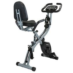 Xspec Recumbent Upright Foldable Exercise Bike with Resistan