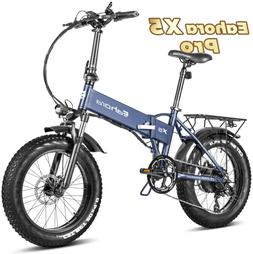 Eahora X5 4.0 Fat Tire Folding Electric Bike 500W Snow Elect