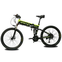 26'' Cyrusher XF770 Electric Bike Folding Bike Mountain Bicy