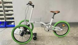 KIFFY FLASH tricycle: Cargo bike FOLDABLE_White frame_Green