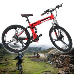 Foldable 26in Mountain Bike Shimanos 21 Speed Bicycle Full S