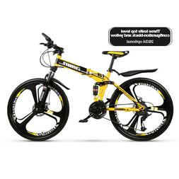 Foldable Mountain Bike Bicycle 21 Speed 26 Inches Wheels Dua