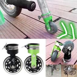 Folding Bicycle Bike Scroll Wheel Roller Assistor Booster Wh
