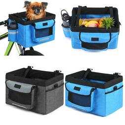 Folding Bicycle Front Basket Small Pet Cat Dog Carrier Bike