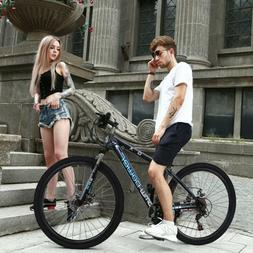 Folding Mountain Bike 21 Speed Bicycle Unisex 26inch Suspens