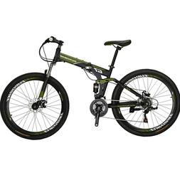 Folding Mountain Bike 21 Speed Full Suspension Bicycle 27.5