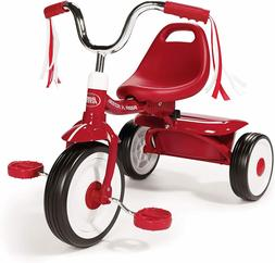 Folding Trike Red Tricycle Kids Toddler Child Bike Ride On T