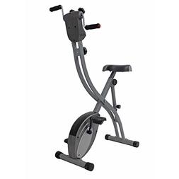 Folding Upright Exercise Bike with Arm Exerciser by Sunny He