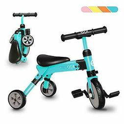 Folding Walking Tricycle Fully Mounted Bicycle Steel Frame F