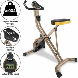 Exerpeutic Gold Heavy Duty Foldable Exercise Bike 400 Lbs We