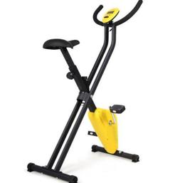 Health Folding Magnetic Exercise Bike Home Gym Workout Aerob