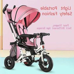 Infant Baby Stroller 4 In 1 Tricycle Folding Rotating Seat 3