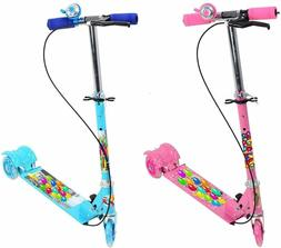Kids 3 Wheel Scooter/Cycle with Height Adjustable & Foldable