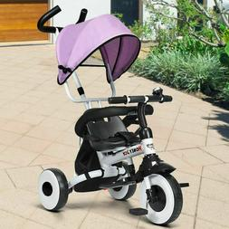 Kids Baby Stroller Tricycle 4 in 1 Foldable Detachable Learn