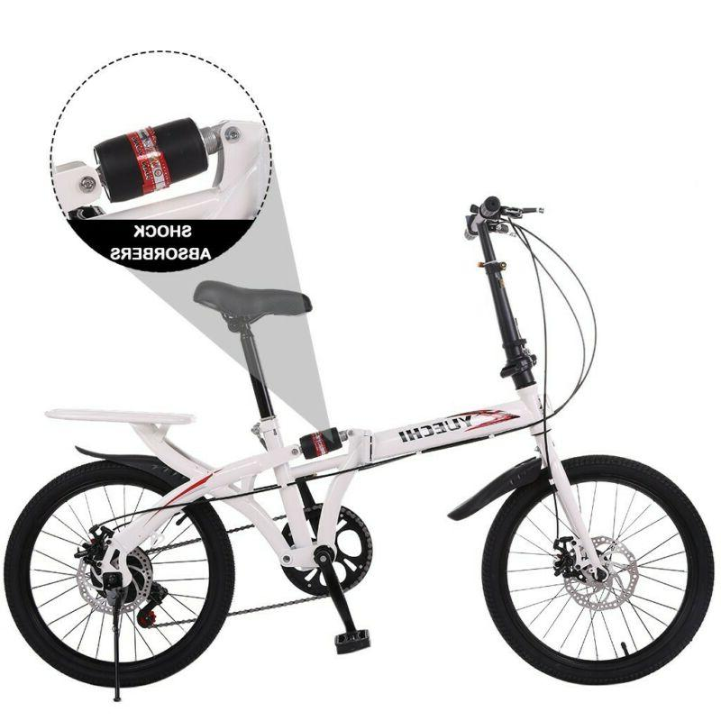 20in 7 Speed City Folding Suspension Bike Bicycle Commuters