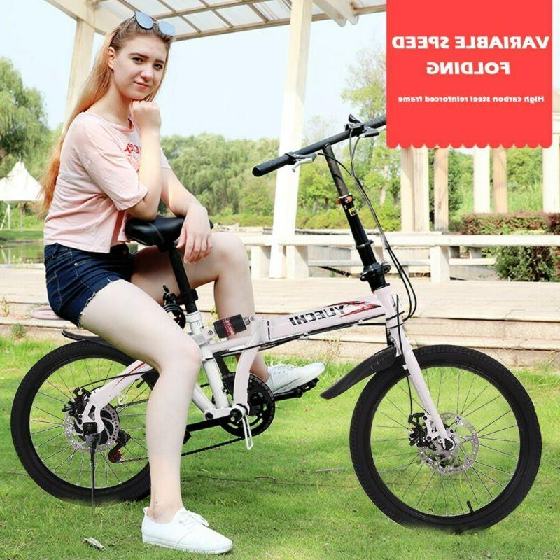 20in 7 Speed City Folding Compact Bicycle