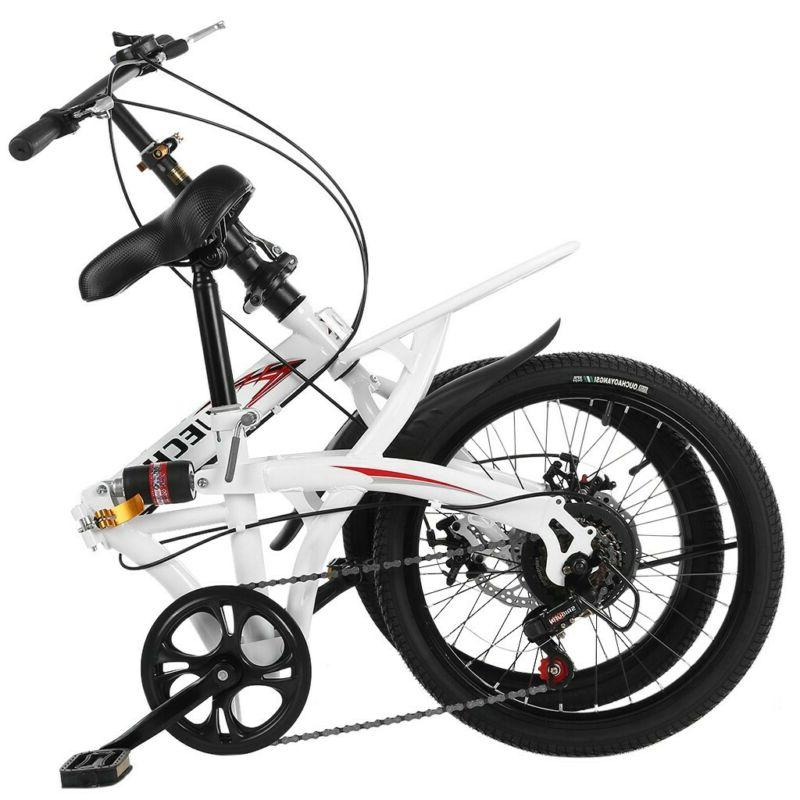 compact bike with shock absorption and disc brake