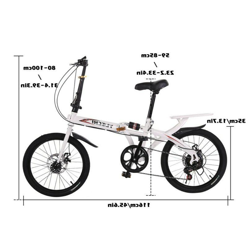 20in folding compact bike absorption and brake