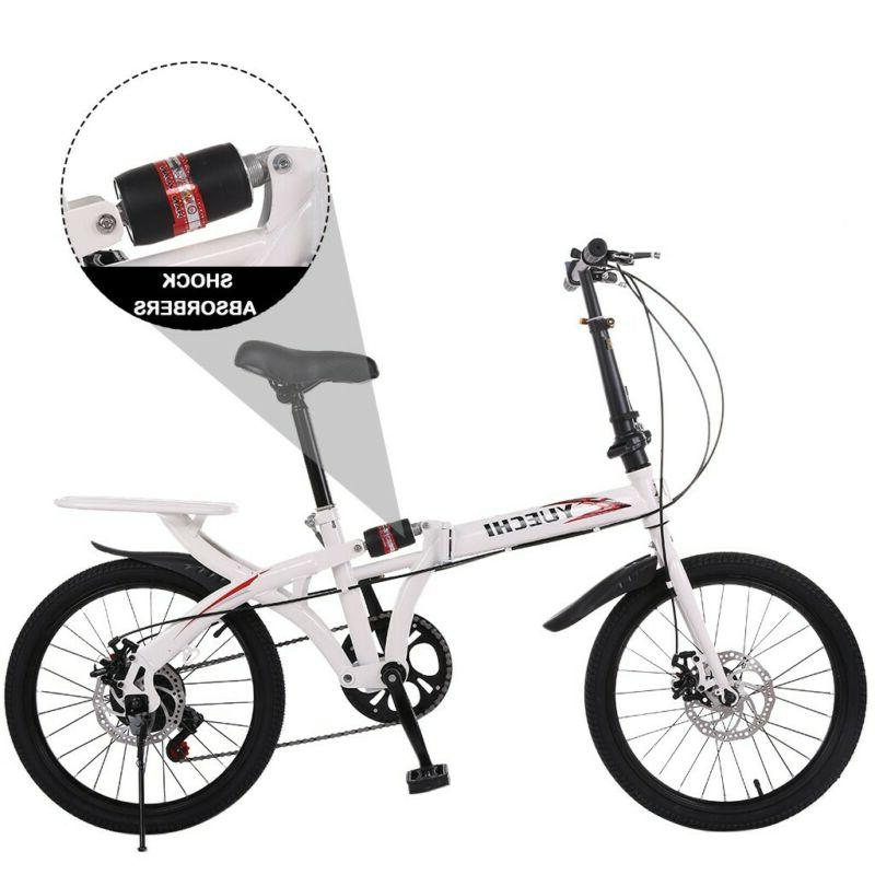 20in 7-speed city folding compact bike absorption and dual disc brake