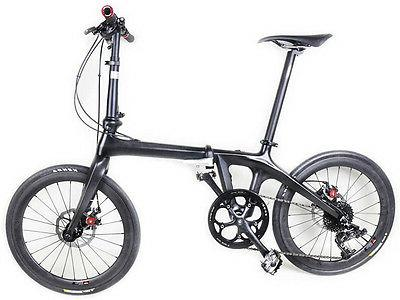 20in Full Carbon Folding Bike Shimano Disc Frame Crankset Fo