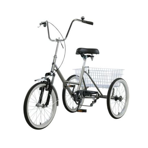 adult folding tricycle bike 3 wheeler bicycle