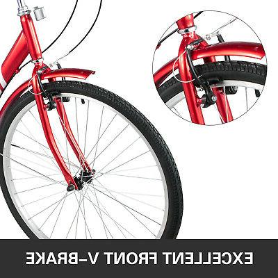 Foldable Tricycle 26'' Wheels Folding 3 Bikes