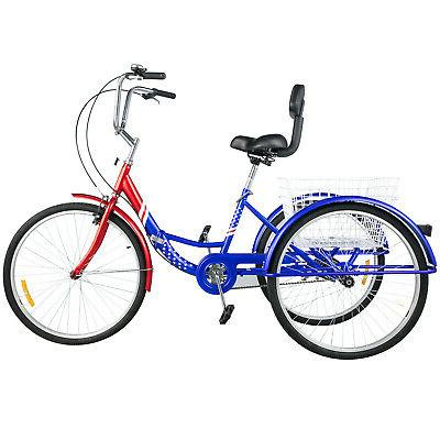 Foldable Tricycle 26'' Wheels Adult Folding