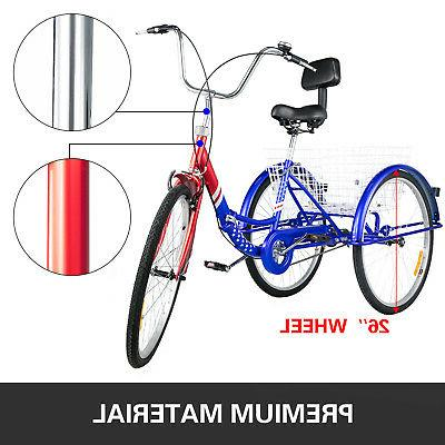 Foldable Tricycle Wheels Adult Tricycle 3 Wheel