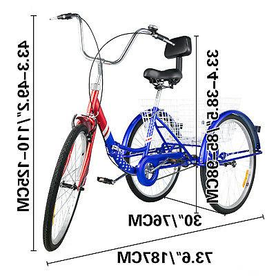 Foldable Tricycle Adult Wheels 3