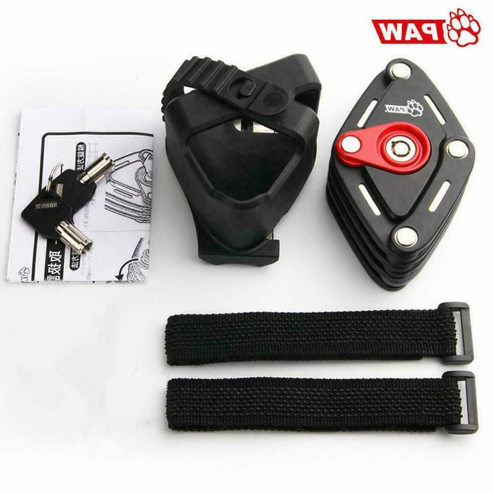Folding Lock with Rubber Mounting Bracket Heavy Bicycle