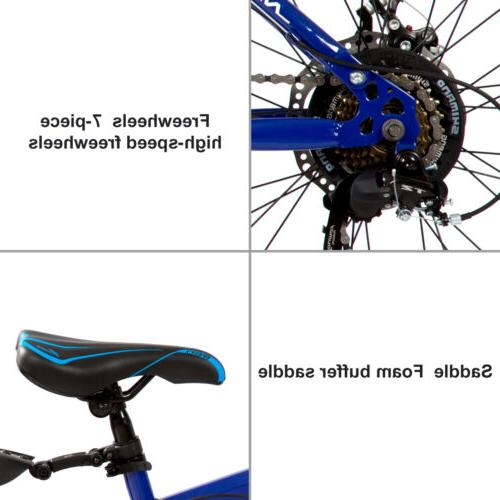 Folding Speed Gearshift Bicycle with Blue