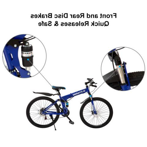 Folding Mountain Speed Bikes Bicycle with Blue