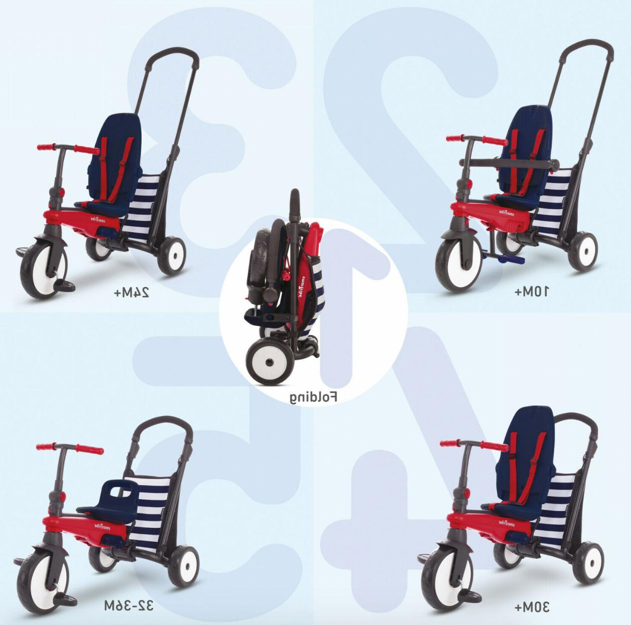 Navy Toddlers Tricycle 10-36 Months Baby Bike Para